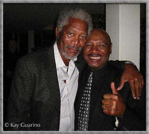 The Marvelous One with American actor Morgan Freeman